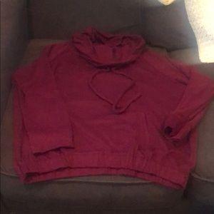 Umgee USA maroon super soft curvy sweatshirt